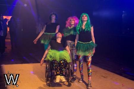 Veera, Emilia, Malin och Celia på Wonderland.