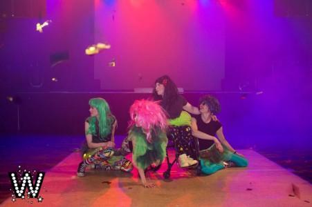 Malin, Celia, Emilia och Veera på Dansklubben Wonderland.