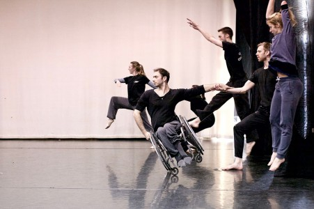 Picture of the dancers in Candoco Dance Company. The photo is borrowed from the company.