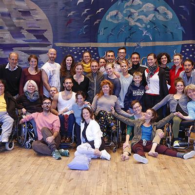 Bild från Uddevalla Choreographic Lab/Moving Beyond Inclusion på Bohusläns Museum. Foto: Patrik Gunnar Helin