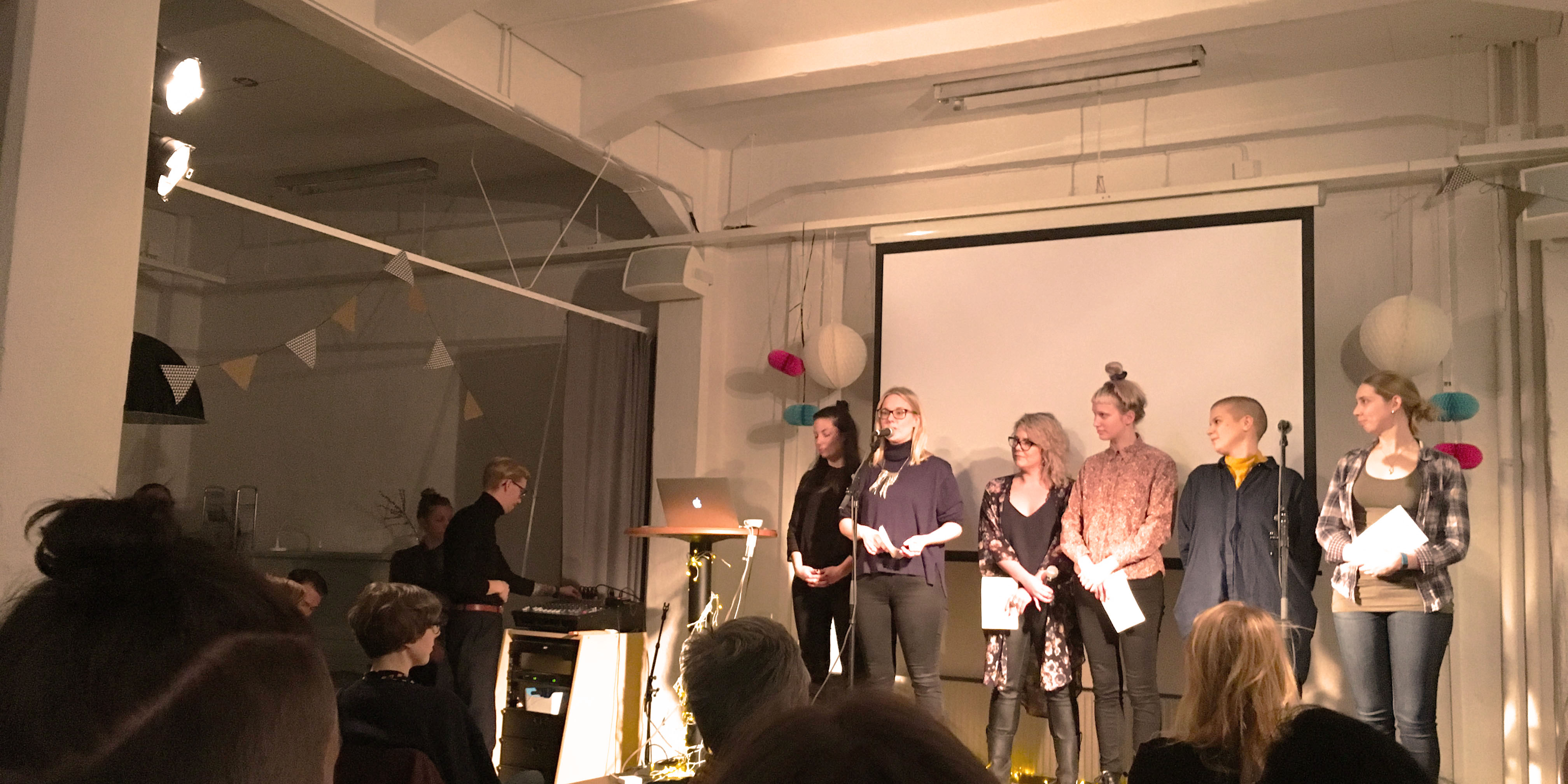 Image from the presentation of the project at Göteborgs Litteraturhus, winter 2017. Photo: Anna Bergström