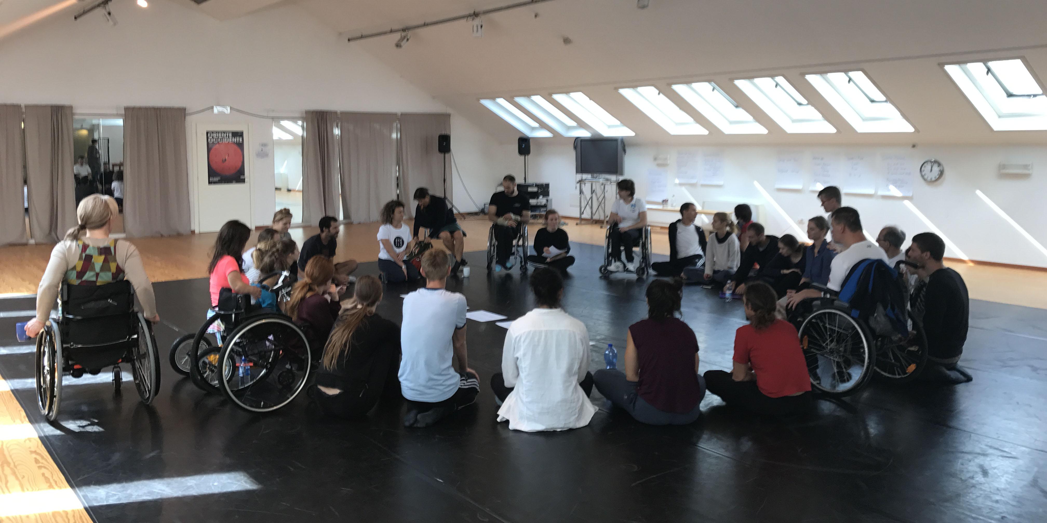 Bild från Rovereto Choreographic Lab i Rovereto, september 2017. Foto: Dag Rosenqvist