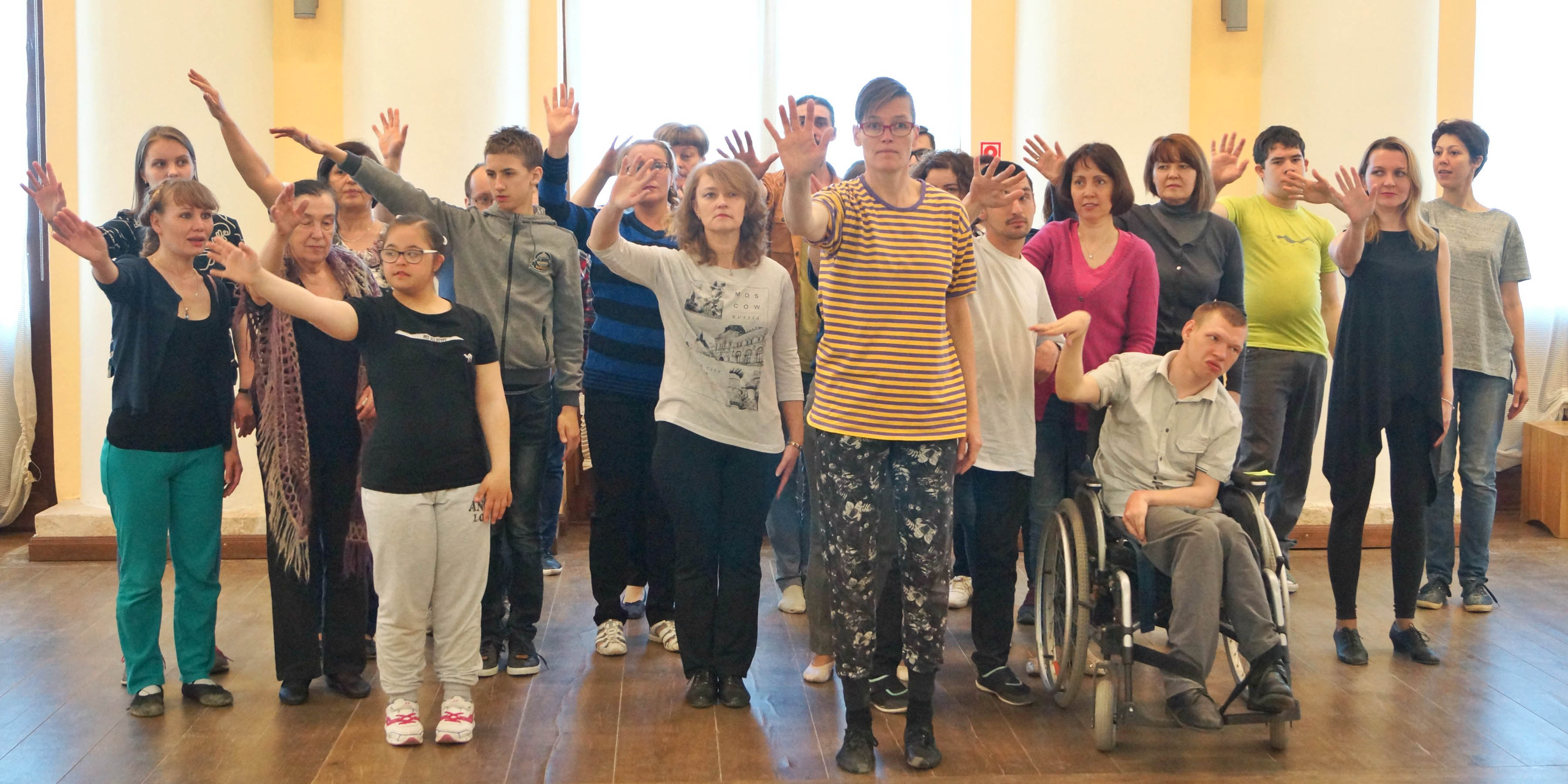 Image from when Veera Suvalo Grimberg is leading a workshop in Archangelsk