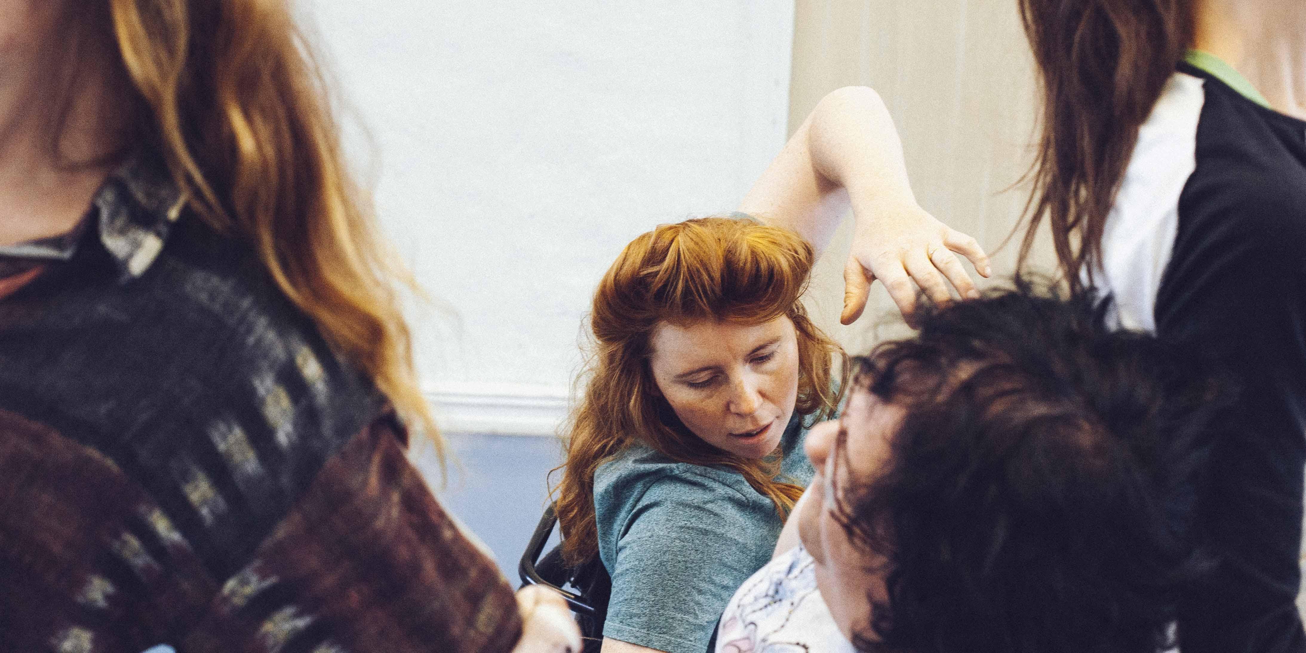 Bild från repetitioner med Danskompaniet Spinn. Foto: Malin Johansson